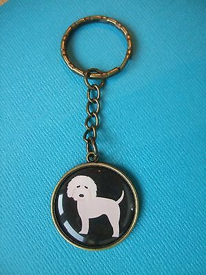 Goldendoodle Keyring Dog Puppy Metal Handmade Bag Charm Bronze Black Fawn Doodle