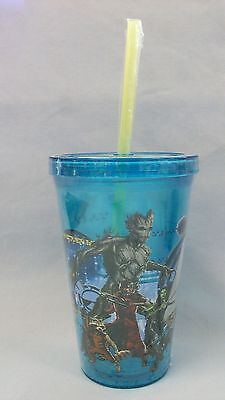 Marvel ~ Guardians of the Galaxy ~ Acrylic Drinking Glass ~ Travel Cup W/ Straw