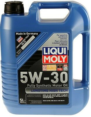 LiquiMoly Longtime High Tech 5W-30 Synthetic Motor Oil - 5 Liters