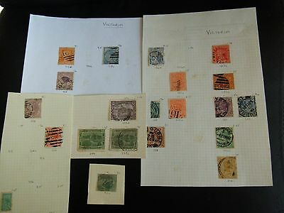 Colllection LOT Australian States USED stamps pages & pieces Catalogued £22+