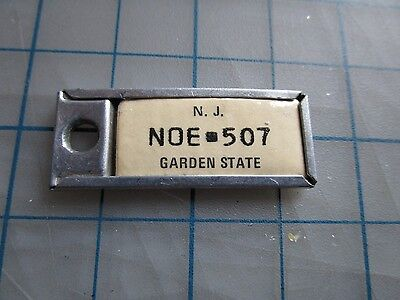 New Jersey Disabled American Veteran DAV Keychain License Plate Tag Rare