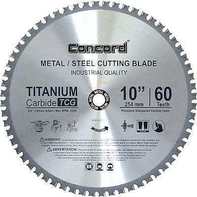 Concord Blades MCB1000T060HP 10-Inch 60 Teeth TCT Ferrous Metal Cutting Blade