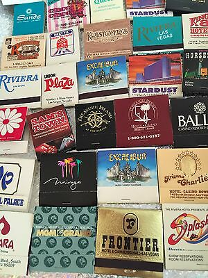 New Lot Of 24 Clean Casino Matches Match Matchbooks LAS VEGAS Collectible