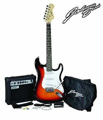 Johnny Brook JB401 Full Size Sunburst Complete Electric Guitar with 15 W Ampl...