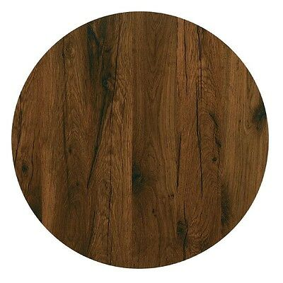 Werzalit Round Table Top Antique Oak 700mm