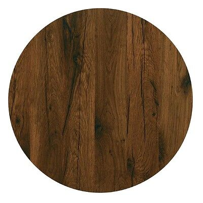 Werzalit Round Table Top Antique Oak 600mm