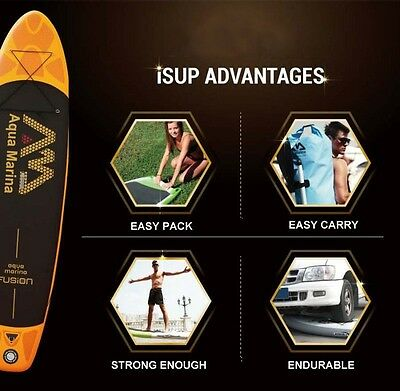 AQUA MARINA 11 feet 15CM thickness FUSION inflatable sup board stand up paddle