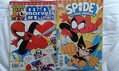 GIANT SIZE MINI MARVELS 1 and SPIDEY AND THE MINI MARVELS 1 by Chris Giarusso