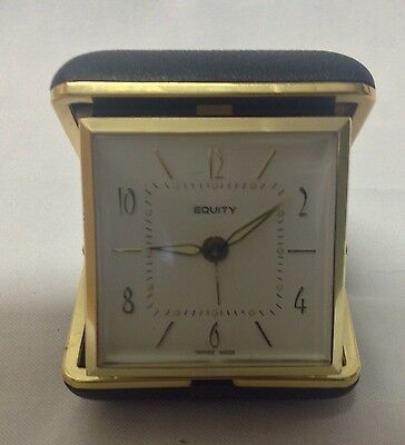 Vintage Travelling Alarm Clock - Maker Is Equity - Empired Made (Hong Kong)