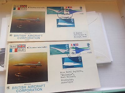 1969 Concorde Filton special postmark  first day cover plus Filton flight cover
