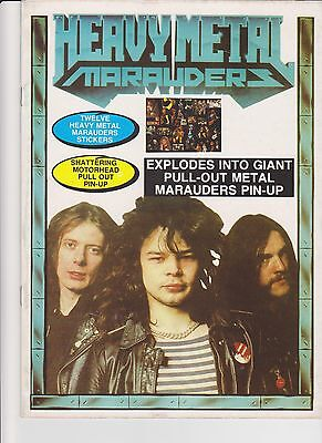 Heavy Metal Marauder magazine 1981 with stickers and poster complete excellent
