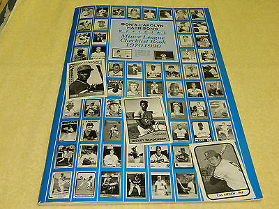 Don & Carolyn Harrison's Official Minor League Checklist Book (1970-1990)