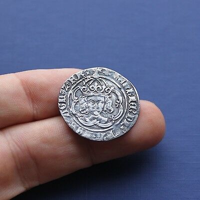 Hammered Silver Coin Henry 7th Groat Facing Bust c 1485 AD