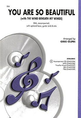 You Are So Beautiful/The Wind Beneath My Wings (SSA). Choral Sheet Music