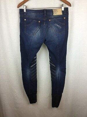 Animo Equestrian Breeches Size (D-38) (31X28) Italy Stretch Riding Blue Jeans 8