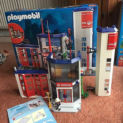 Playmobil Fire Station 4819 - Boxed With Instructions