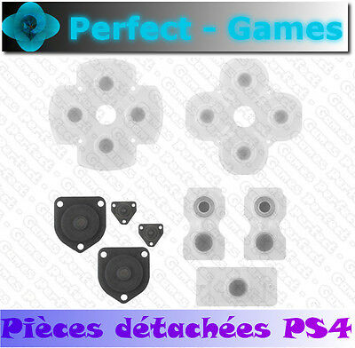 Kit boutons contact touche silicone rubber conductive pad manette controller PS4