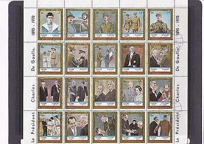 Charles De Gaulle memorial - CTO Thematic complete sheet - 17/141