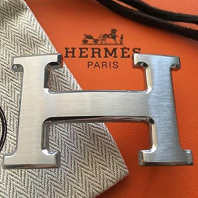 New Hermès belt buckle 32mm H Silver Brushed Only Buckle
