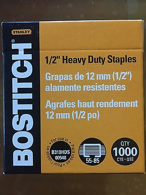 "Bostitch 1/2"" Heavy Duty Staples 12mm Qty1000"