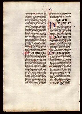Commentary on  Sentences of Peter Lombard Bishop of Paris  Early 1477 Incunable