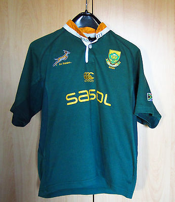 South Africa Springbok Supporter Jersey Canterbury Boy Used 12 Years