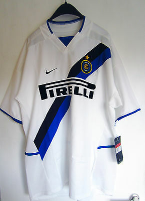 Inter Milan Away Jersey 2002-2003 2003-2004 NEW Nike Large