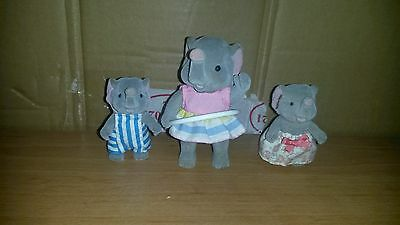 Sylvanian Maple Town Forest Family Elephant CIRQUE 1986