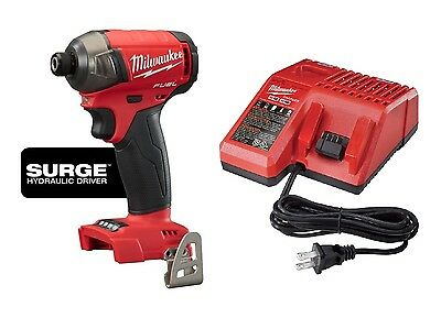 MILWAUKEE 2760-20 M18™ FUEL™ SURGE™ 1/4 In. Hydraulic Impact Driver + Charger