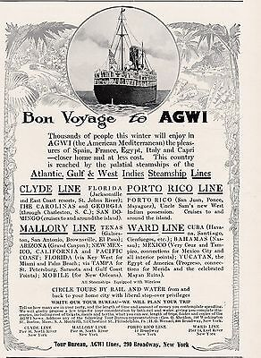 Atlantic Gulf & West Indies Steamships - Clyde, Porto Rico, Mallory & Ward Lines
