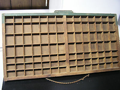 Antique Hamilton Printers Type Drawer Case Shadow Box Letter Tray Wood