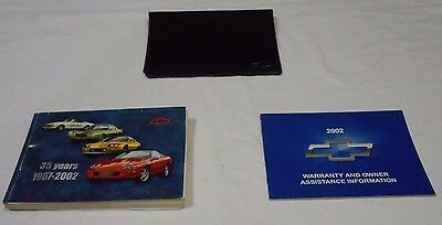 2002 Chevrolet Camaro Owner's Manual 3/pc.set & Black Chevrolet Factory Case,,