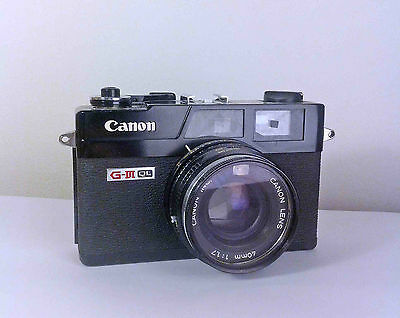 Canonet QL17 Giii - with a Canon Lens 40mm 1:1.7 Rangefinder Film Camera - BLACK