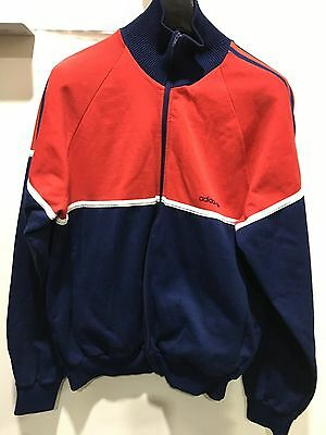 Vintage Adidas Originals Track Top Tracksuit Large 70's 80's Made In Romania