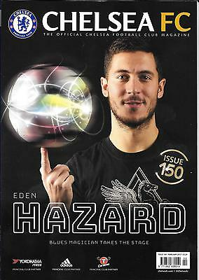 * NEW * Official CHELSEA FC MAGAZINE - FEBRUARY 2017  ISSUE 150  84 Page A4 Size