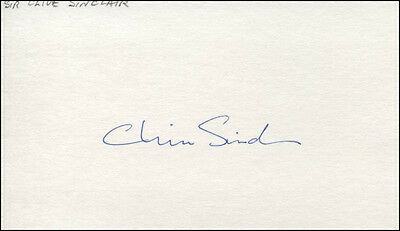 Sir Clive Sinclair - Signature(S)