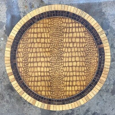 Wild Faux Alligator Skin and Tessellated Coffee Table Maitland Smith Vintage