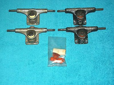 TENSOR TRUCKS ~ 2 Pair Used with Accessories ~ Black and Silver