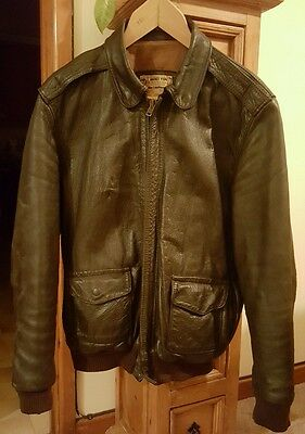 USAAF Replica Vintage A2 Pilots Leather Jacket by Aviation Leathercraft