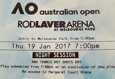 BARGAIN !! AUSTRALIAN OPEN x2 - TONIGHT - Will DELIVER FOR 7PM 6 - ROWS FRONT