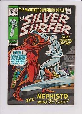High Grade Marvel Comic: 1970 The Silver Surfer #16 Mephisto Appearance (H051)