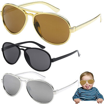 Funny Bro Swag Baby Toddler Boys TOP GUN GOLD AVIATOR SUNGLASSES AGES 0 - 3 Year