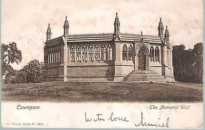 Kanpur, India (Cawnpore) - Memorial Well - postcard, KEVII stamp 1906 Sea Post
