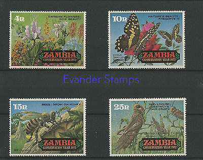 Zambia 1972 Nature Conservation Year - Insects. MNH