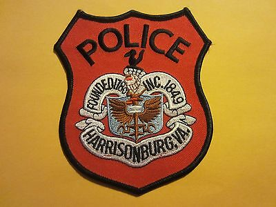 Collectible Harrisonburg, Virginia Police Patch New