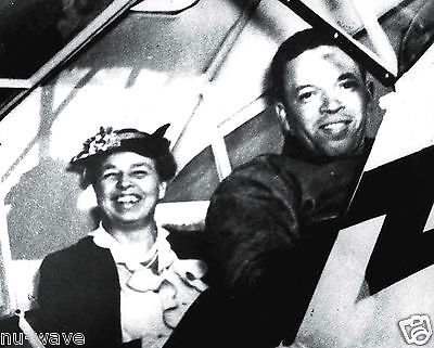 1941-Tuskegee Airman Charles Anderson First Black Man Fly w/ Eleanor Roosevelt
