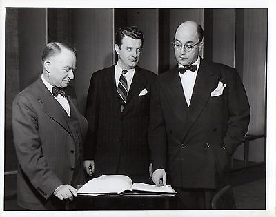 """g262. Rare Photo 1947 CBS-TV """"We Take Your Word"""" Hosts Bryson & Burrows"""