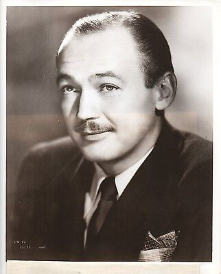 """g254. Original 1947 CBS-TV Photo """"Queen for a Day"""" Emcee Jack Bailey (Mutual)"""