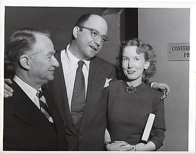 """g266. Rare Photo 1947 CBS-TV """"We Take Your Word"""" Hosts Bryson & Burrows"""