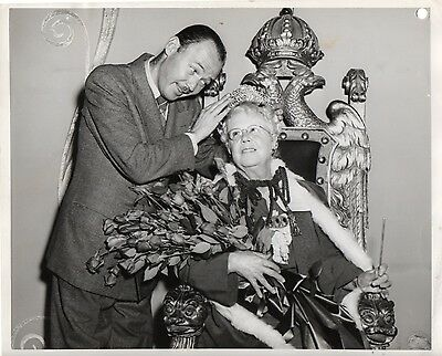 """g250. Original 1947 CBS-TV Photo """"Queen for a Day"""" Emcee Jack Bailey (Mutual)"""
